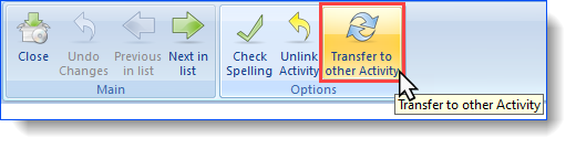 View or Edit File Notes Transfer to other activity button